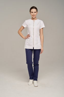 Tunic with front zip no collar
