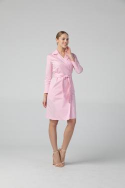Халат медицинский - Розовый