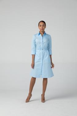 Платье-халат Надежда, цвет голубой