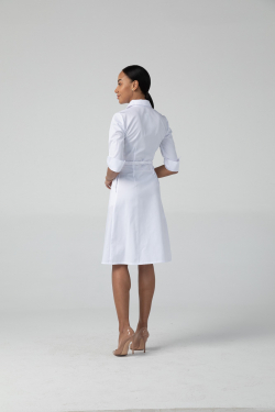 Платье-халат Надежда, цвет белый