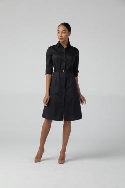Платье-халат Надежда, цвет чёрный