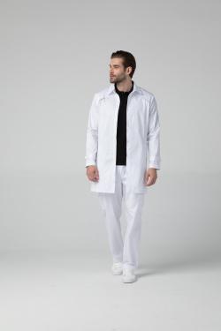 Медицинский халат-пиджак мужской, укороченный