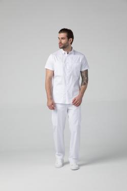 DrNICE рубашка мужская медицинская с короткими рукавами, на кнопках