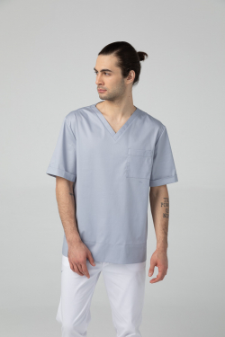 Scrub top with short...