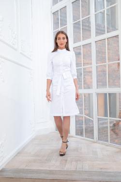 Medical dress robe - White